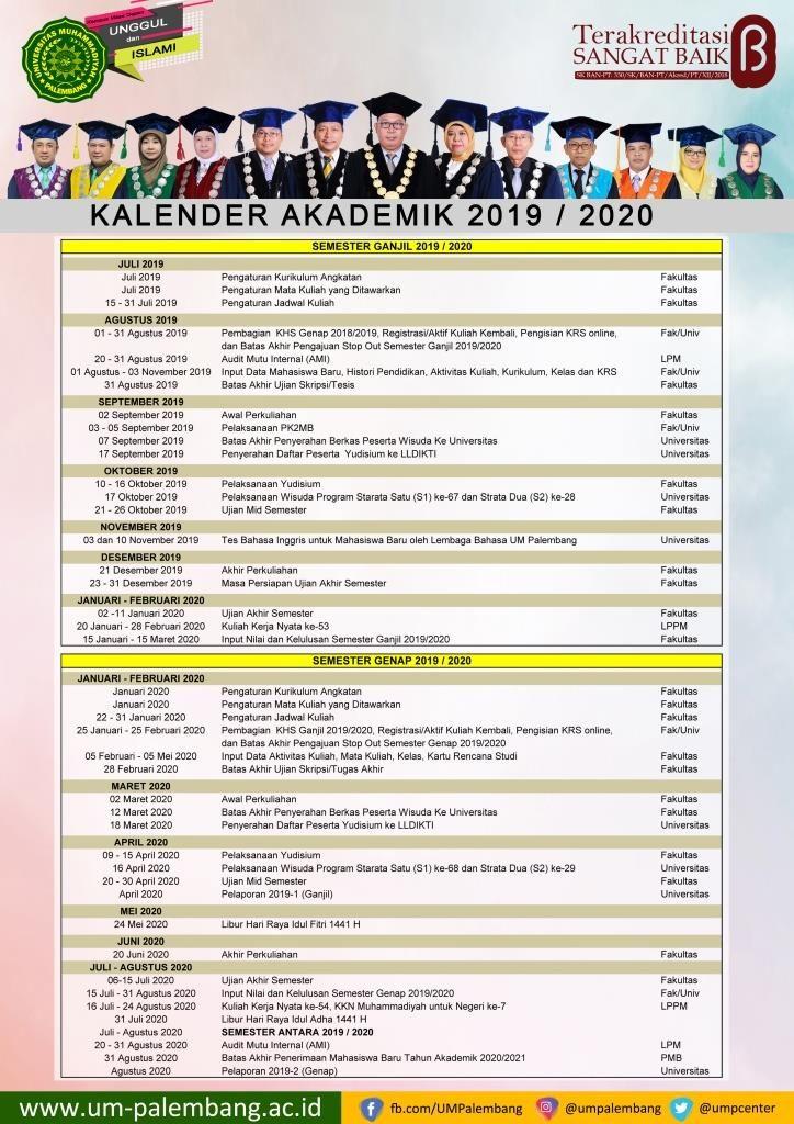 Kalender-Akademik-umpalembang-2019/2020