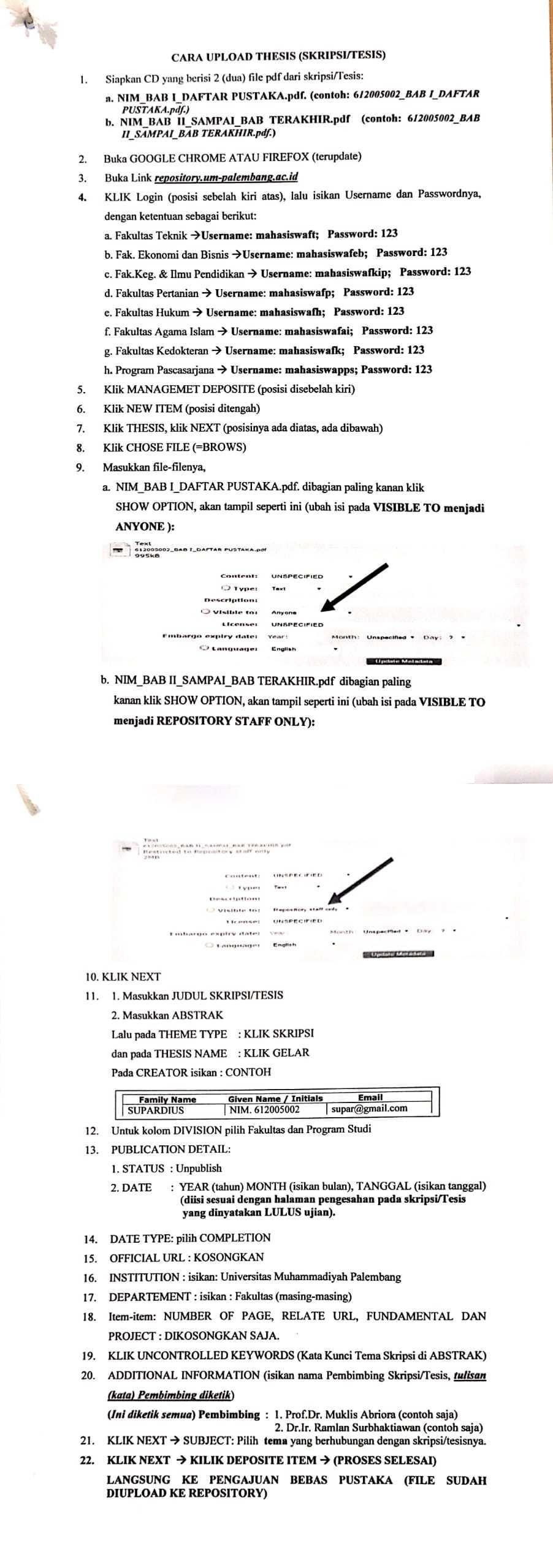 Sub Menu Login Selamat Datang Di Repository Digital Universitas Muhammadiyah Palembang Kami Berkomitmen Untuk Memudahkan Akses Ke Koleksi Digital Yang Dihasilkan Oleh Civitas Akademika Universitas Muhammadiyah Palembang Untuk