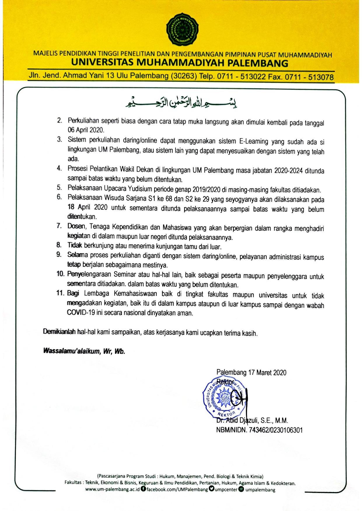 Surat Edaran UMPalembang Terkait Covid-19_page-0002