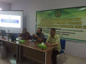 UMPalembang Workshop Penulisan Proposal PKPT (2)