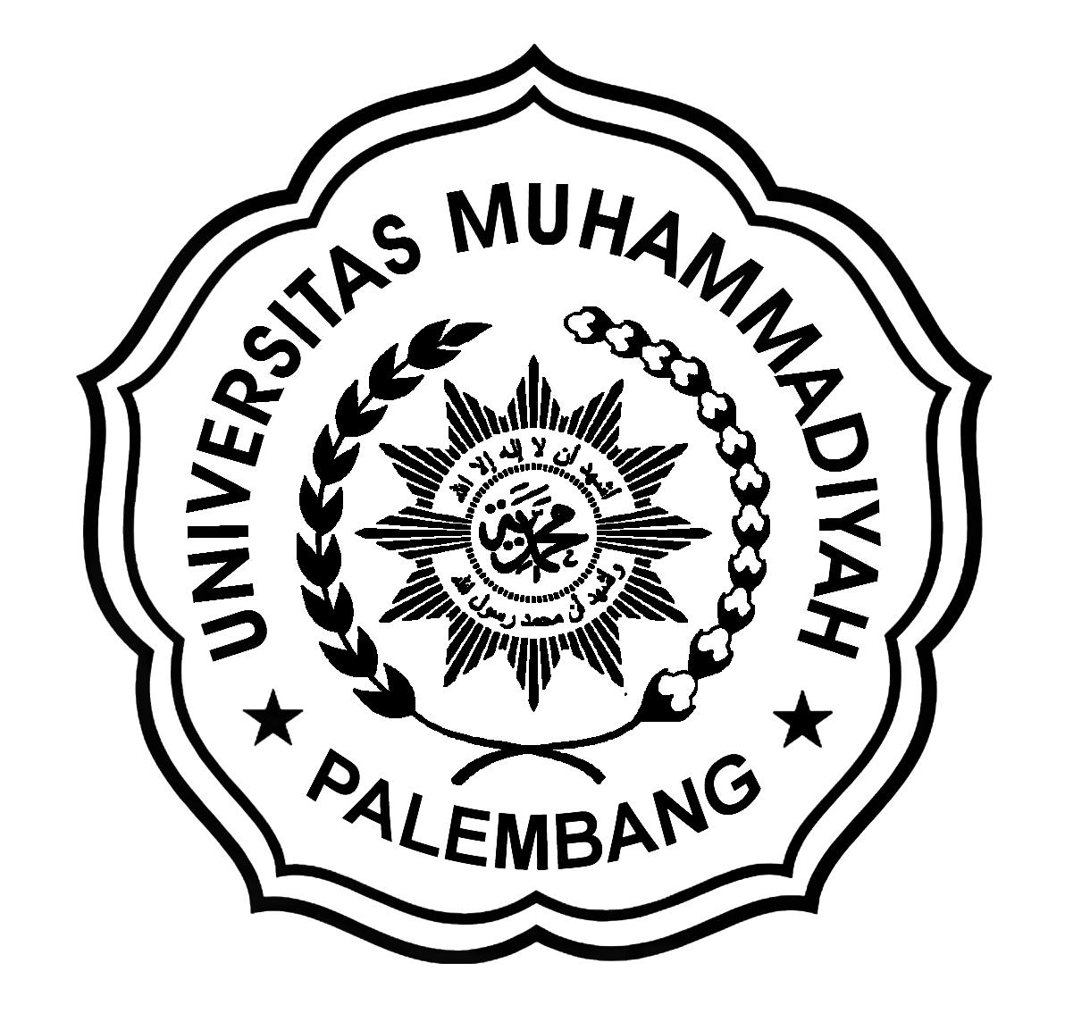 Logo UMPalembang 2020 Mini Hitam Putih