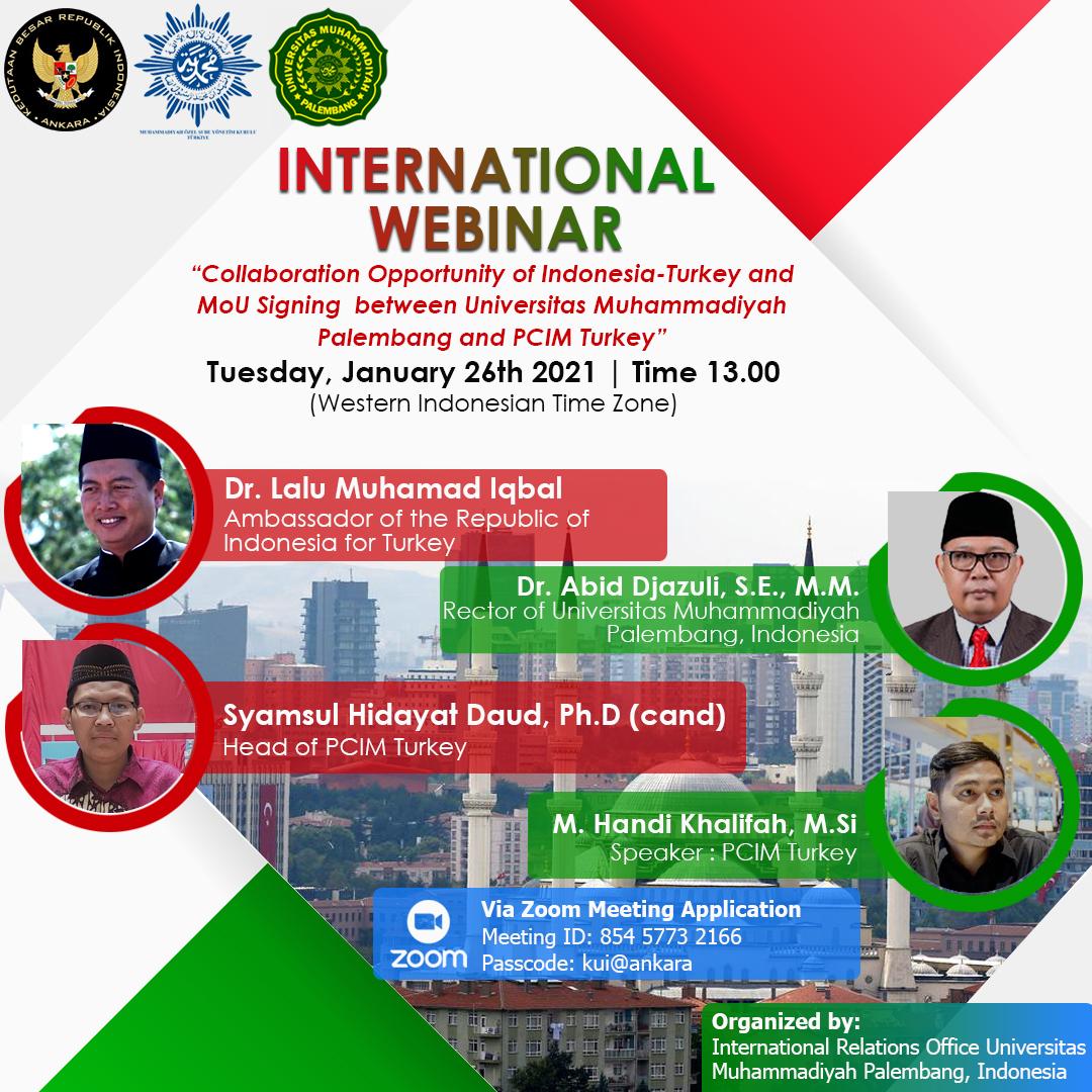 Webinar Peluang Kerjasama antara Indonesia dan Turki